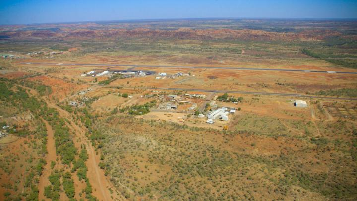 Aerial photo of Mt Isa